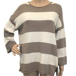 GUDRUN SJODEN Recycled Cotton Lagenlook Sweater M